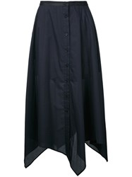 Christophe Lemaire Buttoned Long Skirt Black