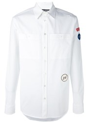 Raf Simons Arm Patch Shirt White