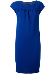 Boutique Moschino Fitted Dress Blue