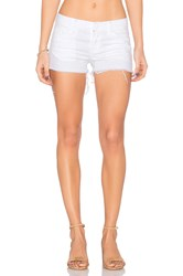 Hudson Jeans Kenzie Cut Off Short White