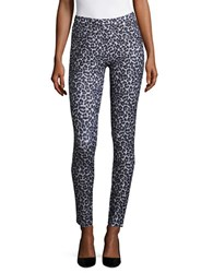 Michael Michael Kors Printed Cotton Blend Leggings Black