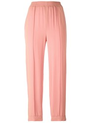 Marni Tapered Ankle Length Trousers Pink Purple