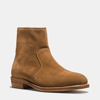 Coach West Suede Zip Boot Camel