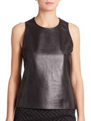 Pauw Sleeveless Leather Top Black