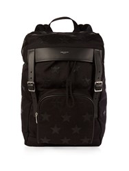Saint Laurent Star Canvas And Leather Backpack