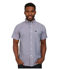 Matix Clothing Company King Gingham Woven Top Blue Men's Short Sleeve Button Up