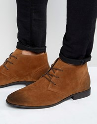 Asos Chukka Boots In Tan Faux Suede Tan