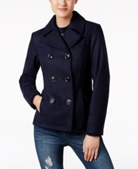 Celebrity Pink Double Breasted Peacoat Navy