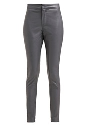 Bik Bok Reese Trousers Antracite Mottled Dark Grey