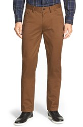 Vince Camuto Men's Vince 'Core' Slim Fit Five Pocket Chinos Dark Tan