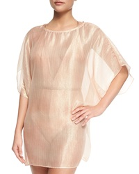 Meskita Angel Sheer Metallic Tulle Coverup
