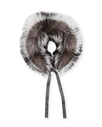 Max Mara Pindaro Detachable Fur Collar Light Grey