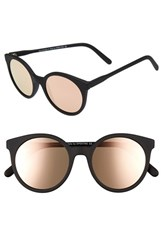 Spektre Women's 'Stardust' 50Mm Sunglasses Black Matte Rose Gold Mirror Black Matte Rose Gold Mirror