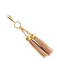Brian Atwood Apaige Leather Tassel Key Fob Gold