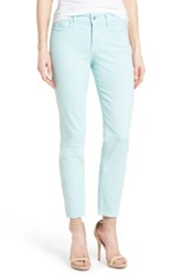 Nydj Clarissa Colored Stretch Skinny Ankle Jean Petite Blue