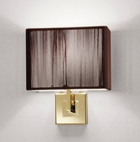 Axo Light Clavius Extended Wall Sconce Black Brown Ivory
