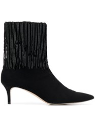 Christopher Kane Embroidered Ankle Boot 1000 Black