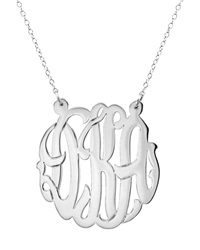 Initial Reaction Sterlingsilver Cutout Monogram Pendant