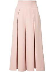 Milly Cropped Palazzo Pants Pink Purple
