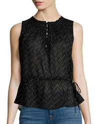 Jessica Simpson Sleeveless Peplum Top Black