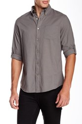 Star Usa By John Varvatos Roll Up Long Sleeve Slim Fit Shirt Beige