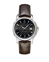 Hamilton Jazzmaster Viewmatic Leather Strap Timepiece Black