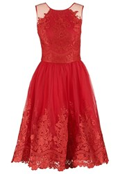 Chi Chi London Leona Cocktail Dress Party Dress Red