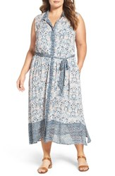 Lucky Brand Plus Size Women's Maxi Shirtdress