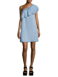 7 For All Mankind One Shoulder Ruffled Dress Rio Vista