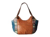 The Sak Indio Satchel Teal Tribal Shoulder Handbags Multi