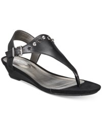 Kenneth Cole Reaction Women's Great Mix Wedge Sandals Women's Shoes Black