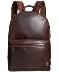 Knomo London Leather Laptop Backpack Brown