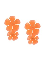 Jennifer Behr Big Flower Earrings Orange