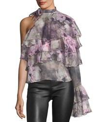 Stylekeepers The Hopeless Romantic Tiered Ruffled Top Pink Pattern