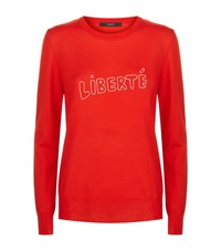 Set Liberte Wool Jumper Female Red White