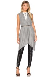 Michael Stars Draped Blanket Vest Gray