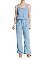 Candc California Double Scoopneck Chambray Jumpsuit