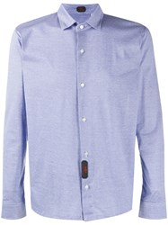Massimo Piombo Mp Horizontal Striped Longsleeved Shirt Blue