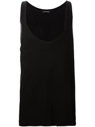 Kris Van Assche Scoop Neck Tank Top Black