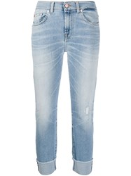 7 For All Mankind Mid Rise Cropped Skinny Jeans 60