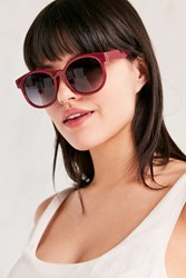 Urban Outfitters Bahama Rounded Square Sunglasses Red