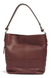Treasure And Bond Sydney Leather Convertible Hobo Burgundy Burgundy Fig