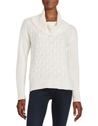 Lord And Taylor Cable Knit Cashmere Sweater Ivory