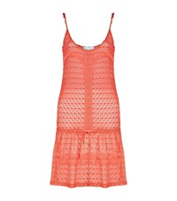 Melissa Odabash Crochet Drop Waist Dress Female Pink