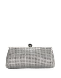 La Regale Metal Mesh Mini Clutch Pewter
