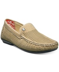 Stacy Adams Men's Pippin Perforated Moccasin Drivers Men's Shoes Taupe
