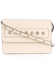 Red Valentino Star Studded Clutch Women Calf Leather One Size White