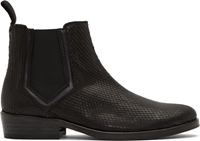 Surface To Air Black Snakeskin Classic Chelsea Boots
