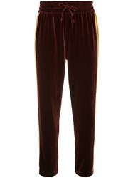 Mother The Lounger Ankle Joggers Red