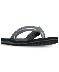 New Balance Men's Brighton Thong Flip Flop Sandals From Finish Line Grey Black